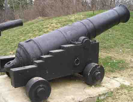 The Russian,British,French cannons in the Crimean War in